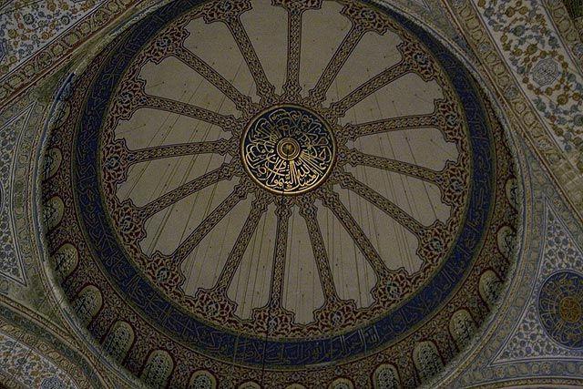Zdjęcia: Stambuł / Błękitny Meczet, sklepienie, TURCJA