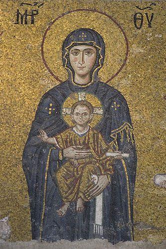 Zdjęcia: Stambuł, Mozaiki w Hagia Sofia, TURCJA