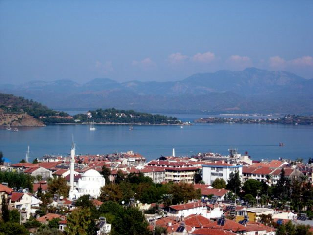 Zdjęcia: Fethiye, Turcja Egejska, widok na zatoke Fethtiye, TURCJA
