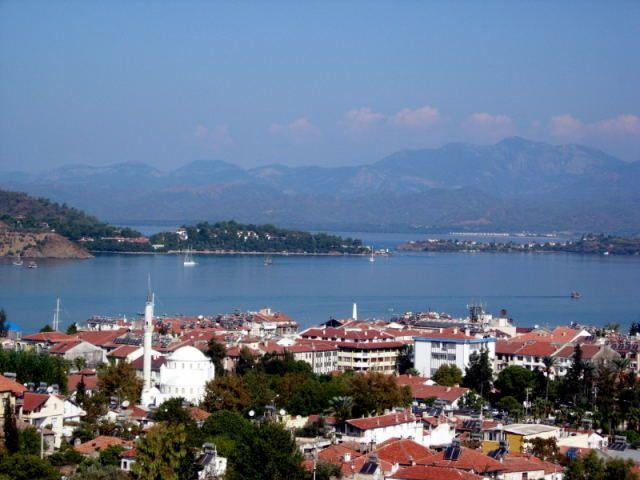 Zdj�cia: Fethiye, Turcja Egejska, widok na zatoke Fethtiye, TURCJA