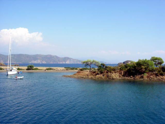 Zdjęcia: Fethiye, Turcja Egejska, wyspa zatoki Gocek, TURCJA