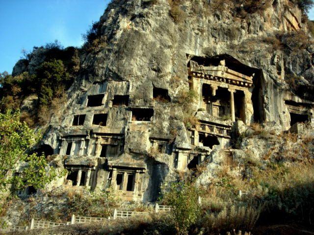 Zdjęcia: Fethiye, Turcja Egejska, grobowiec Amintasa, TURCJA