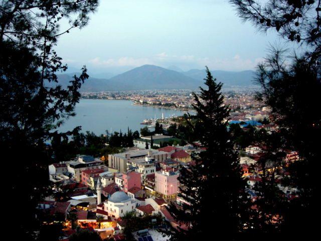 Zdjęcia: Fethiye, Turcja Egejska, zmierzch nad Fethiye, TURCJA