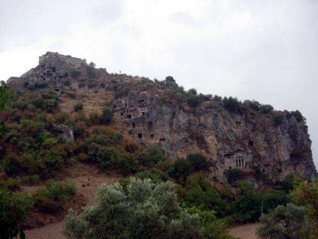Zdjęcia: Fethiye, Turcja Egejska, grobowce władców likijskich w Tlos, TURCJA