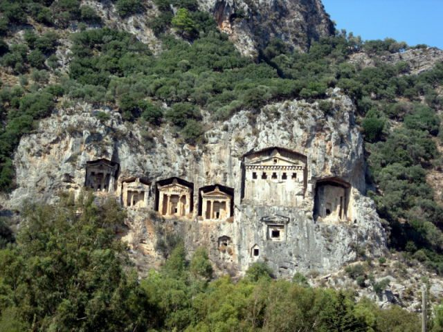 Zdjęcia: Dalyan, Turcja Egejska, grobowce władców likijskich, TURCJA