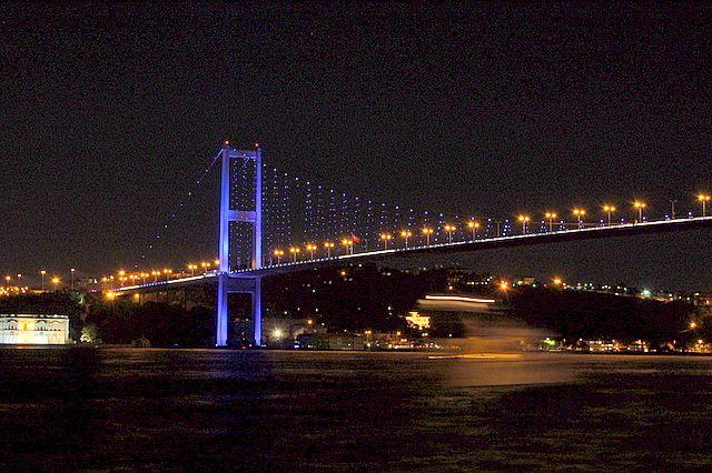 Zdjęcia: STAMBUŁ, Most nad Bosforem, TURCJA
