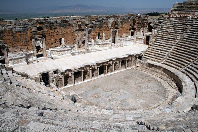 Zdjęcia: Hierapolis, Hierapolis - rzymski teatr, TURCJA