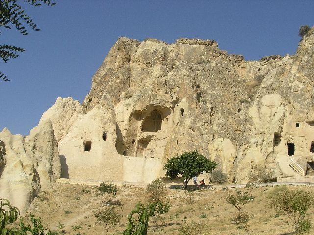 Zdjęcia: Kapadocja, Dom wrążony w skale, TURCJA