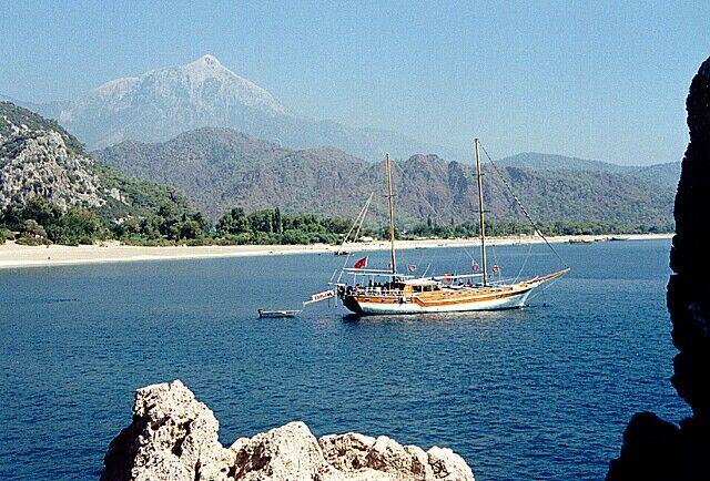 Zdjęcia: Olympos, Rajska plaża przy Olimpos, TURCJA