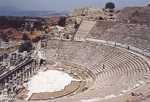 Zdjęcia: Ephes, Amfiteatr na 15 tysięcy widzów, TURCJA
