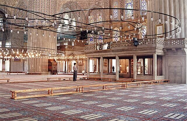 Zdjęcia: Istambul, Wewnątrz Błękitnego Meczetu, TURCJA