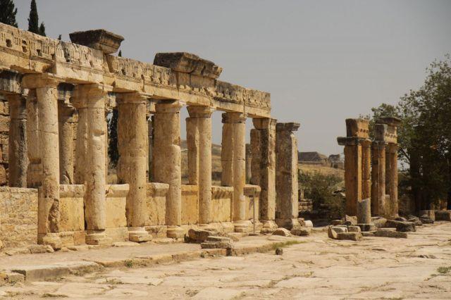 Zdjęcia: Hierapolis, płd-zach Turcja, Ruiny latryn, TURCJA
