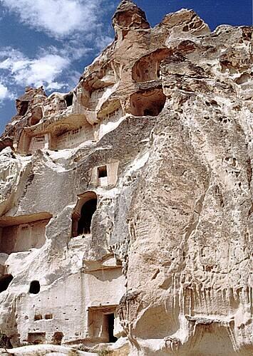 Zdjęcia: okolice Goreme, Kapadocja, Skalne posiadłości w Kapadocji, TURCJA