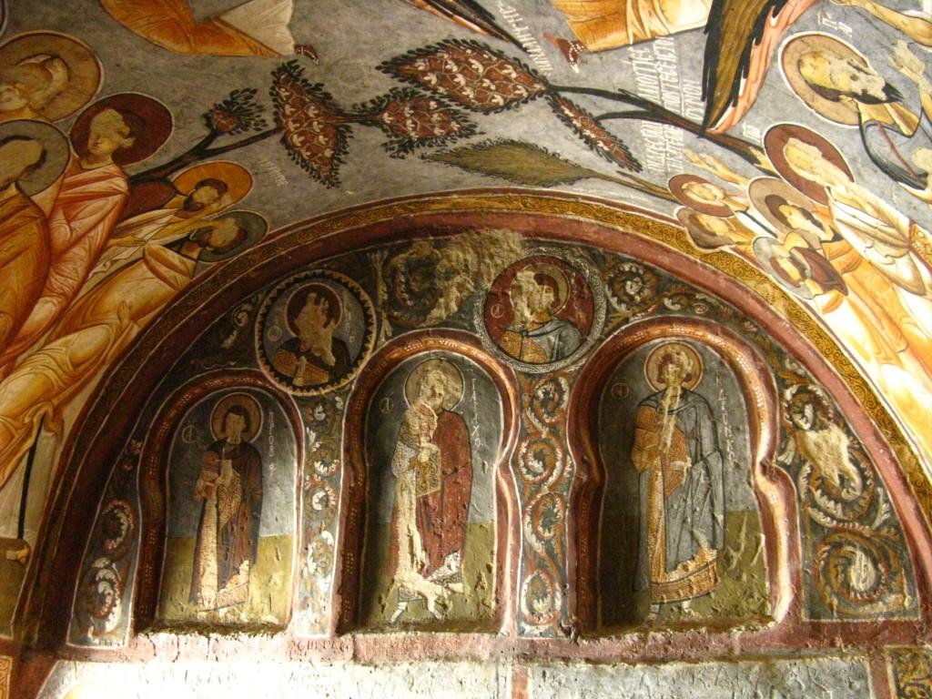 Zdjęcia: Goreme, Z kapadockiej kaplicy 2, TURCJA