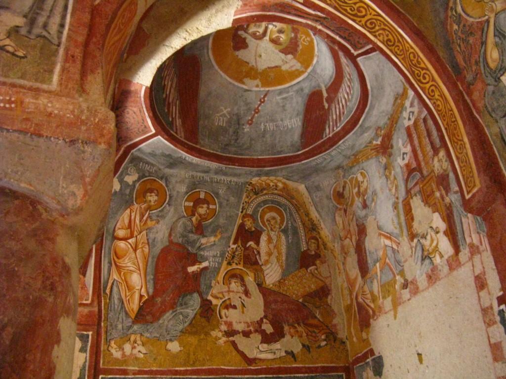 Zdjęcia: Goreme, Z kapadockiej kaplicy 3, TURCJA