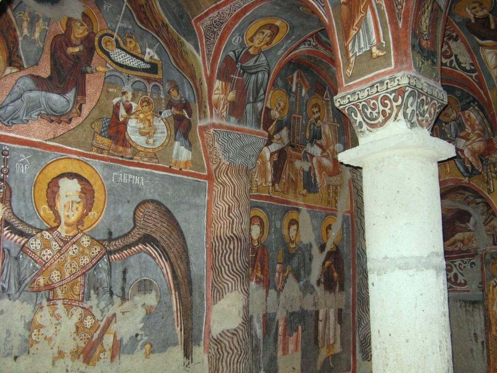 Zdjęcia: Goreme, Z kapadockiej kaplicy 4, TURCJA
