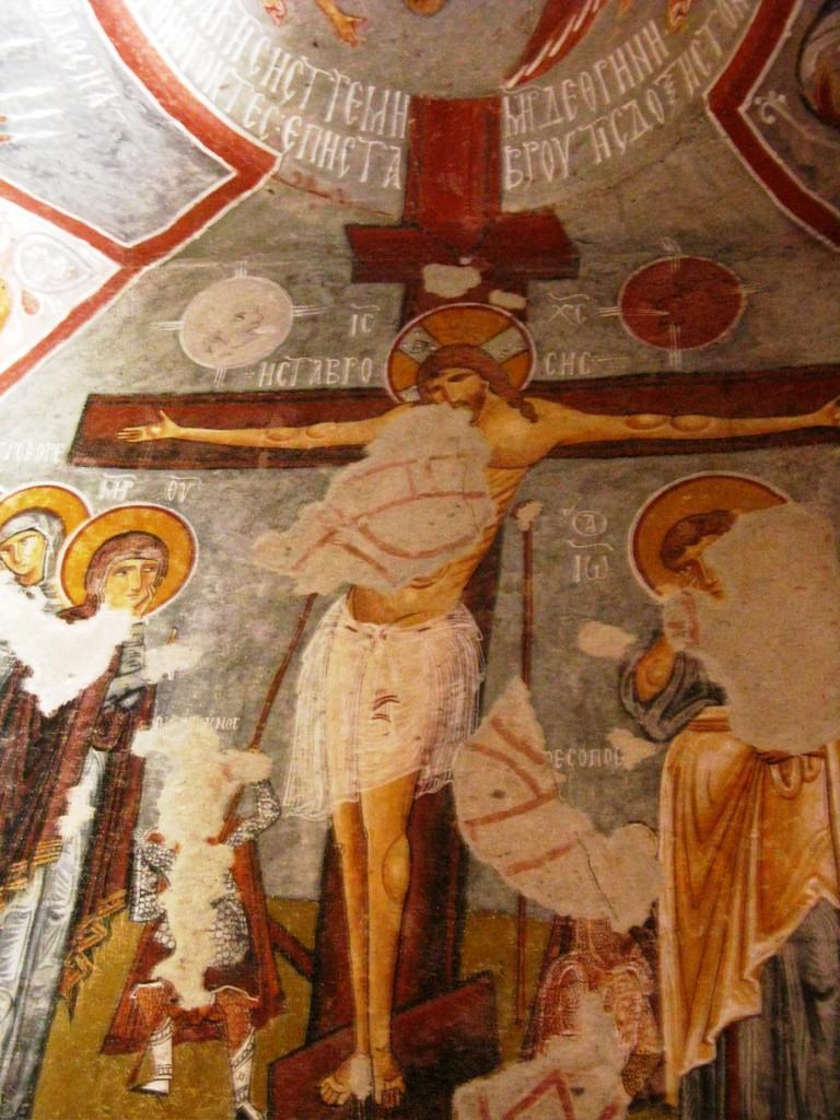 Zdjęcia: dolina Goreme, Z kapadockiej kaplicy 6, TURCJA