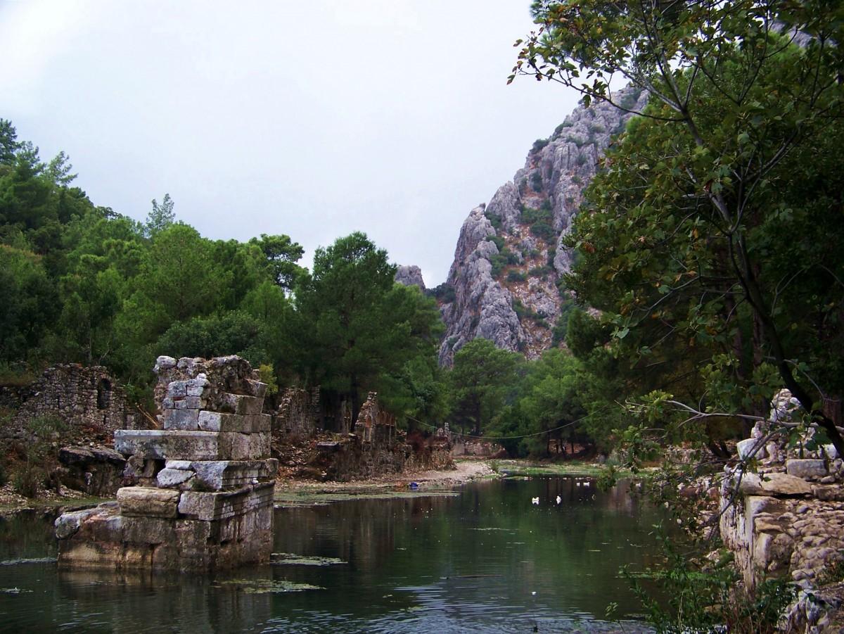 Zdjęcia: Olimpos, Riwiera Turecka, Ruiny Olimpos, TURCJA