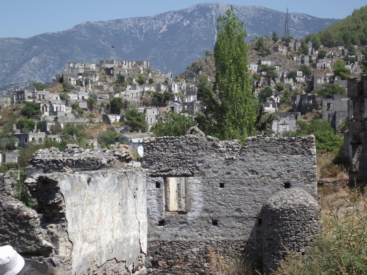 Zdjęcia: Kayakoy, Bodrum, Opuszczone greckie miasto w Turcji, TURCJA