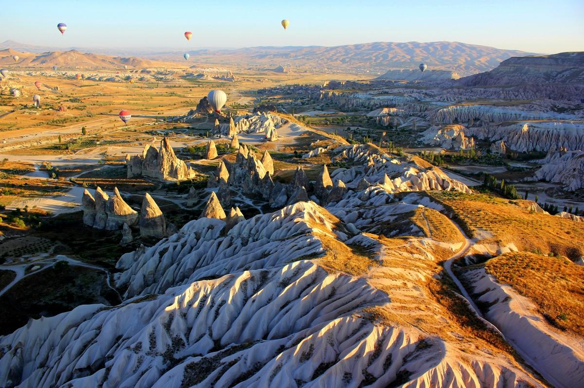 Zdjęcia: Uchisar, Kapadocja, balonem nad Kapadocją, TURCJA