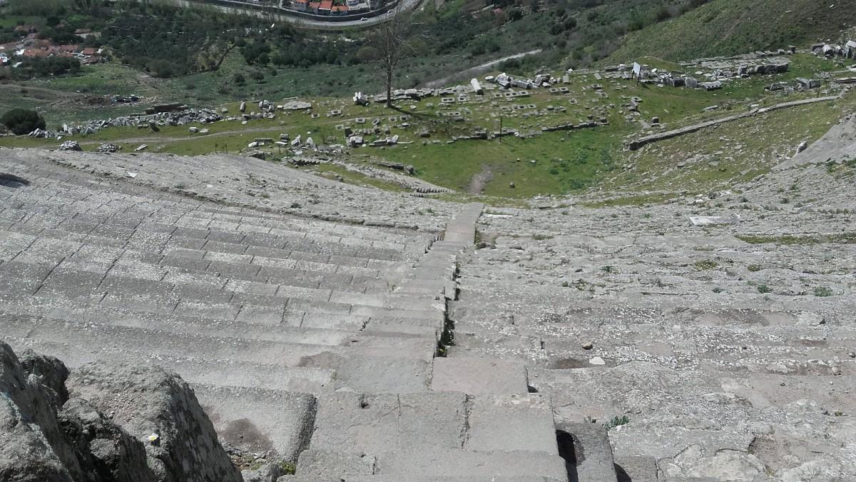 Zdjęcia: Pergamon, wschód kraju, Teatr Pergamon, TURCJA