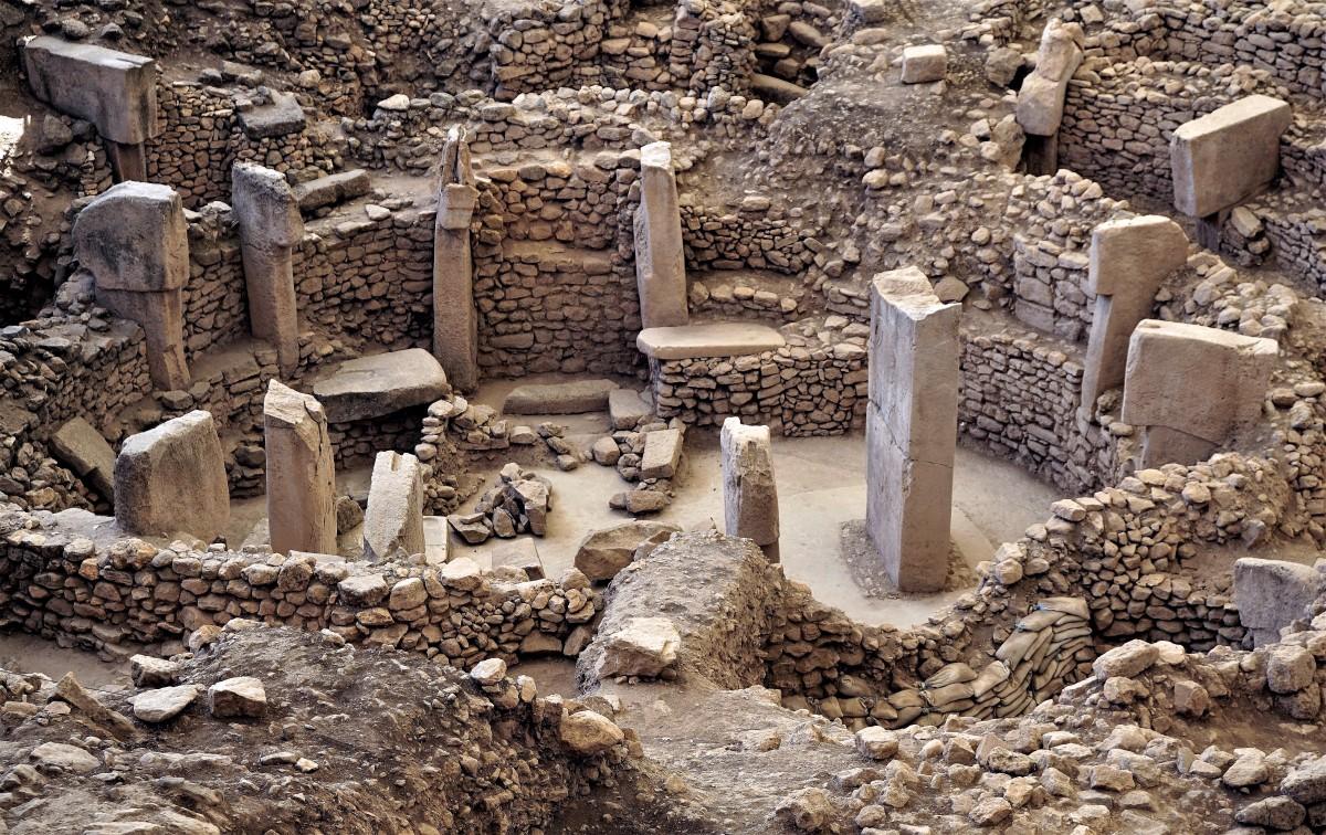 """Zdjęcia: Gobekli Tepe,  południowo-wschodniej Anatolia, Gobekli Tepe - """"pierwsza"""" świątynia, TURCJA"""
