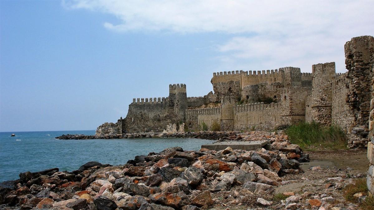 Zdjęcia: Anamur, Morze Śródziemne, Ormiańska twierdza Mamure Kalesi, TURCJA