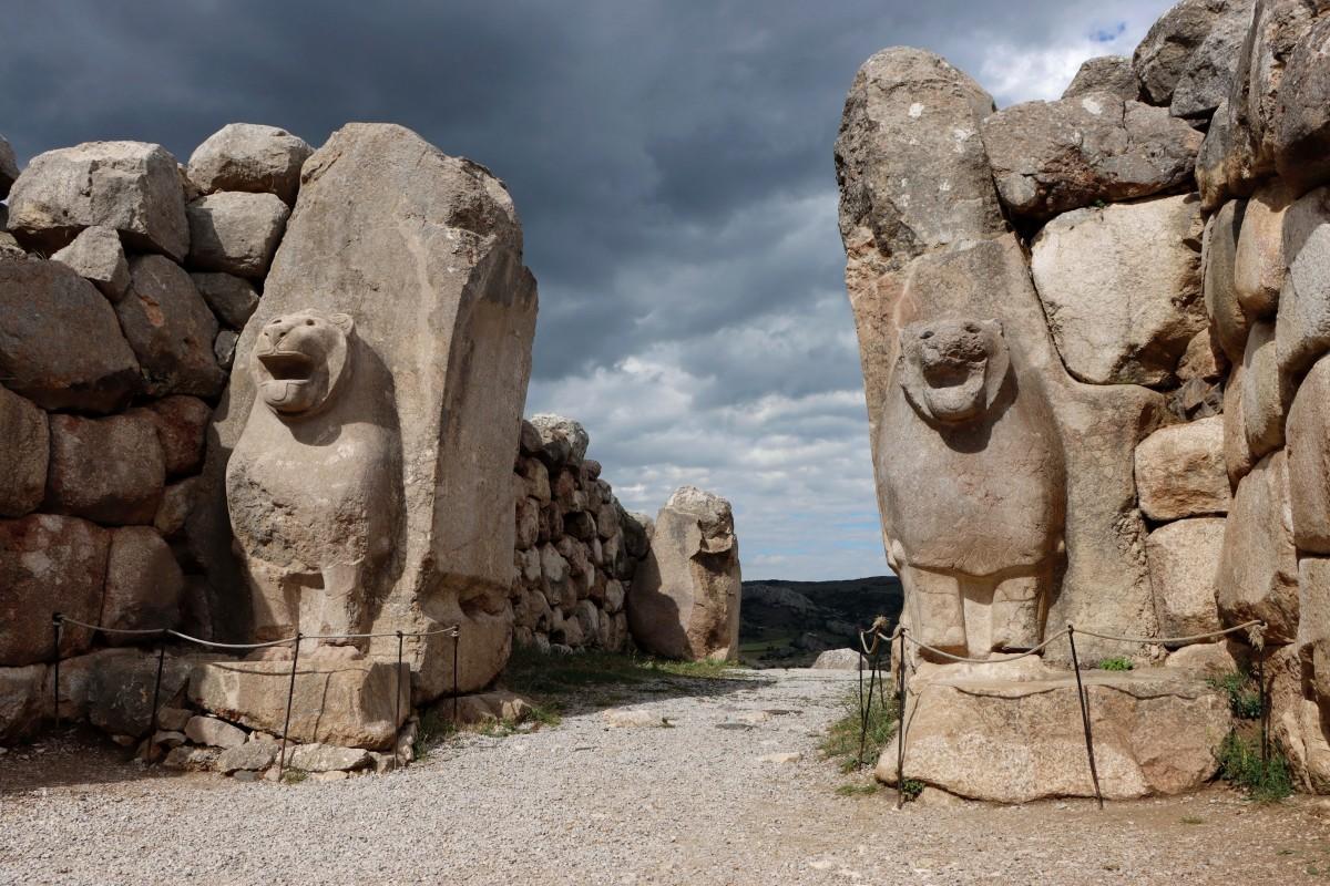 Zdjęcia: Hattusa, środkowa Anatolia, Brama Lwów w dawnej stolicy Hetytów, TURCJA