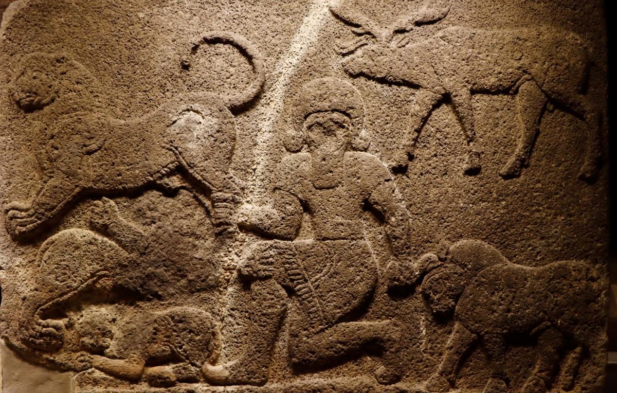 Zdjęcia: Ankara, środkowa Anatolia, Ortostat z Gilgameszem, TURCJA