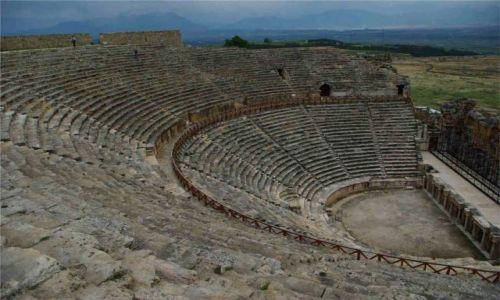 Zdjecie TURCJA / - / Pamukkale hierapolis / Hierapolis Amfiteatr