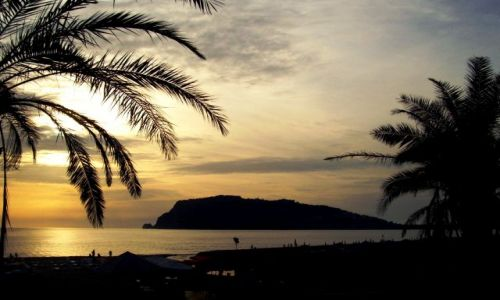 Zdjęcie TURCJA / - / Alanya - Wzgórze Kale o zachodzie słońca / :)