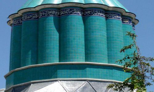 Zdjęcie TURCJA / Wyżyna Anatolijska / Konya / Błękit kopuły