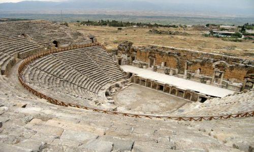 Zdjęcie TURCJA / Anatolia / Hierapolis / Teatr Rzymski