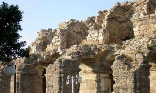 TURCJA / Riwiera Turecka / Side / Teatr Rzymski od tyłu