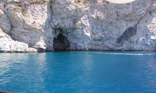 Zdjecie TURCJA / Icmeler / Morze Egejskie / Grota skalna