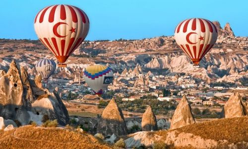 Zdjecie TURCJA / - / Kapadocja / Kapadocja z lotu balonem