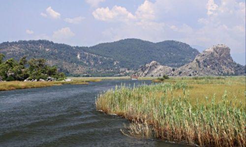 Zdjecie TURCJA / Azja mniejsza / Dolina rzeki  Daylan. / Delta rzeki Daylan.