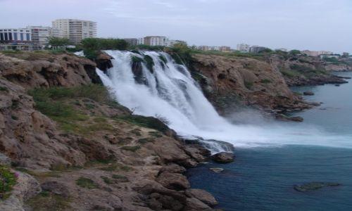 Zdjecie TURCJA / Riwiera Turecka / Antalya / Wodospad Düden Dolny