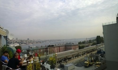 Zdjecie TURCJA / - / Sultanahmed- Stare Miasto / widok na cieśninę Bosfor-Istambuł