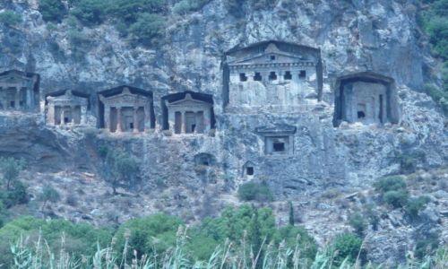 Zdjęcie TURCJA / Oludeniz / grobowce likijskie / Turcja