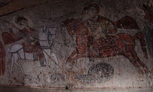 Zdjecie TURCJA / Kapadocja / Göreme / Malowidła w skalnych świątyniach pierwszych chrześcijan