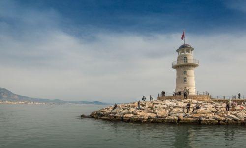 Zdjęcie TURCJA / Riviera Turecka / Alanya / latarnia...