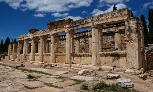 Zdjęcie TURCJA / południowa Turcja / Hierapolis / dawne łaźnie