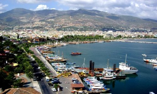 Zdjecie TURCJA / Riwiera Turecka / Port w Alanyi / Widok z Czerwon