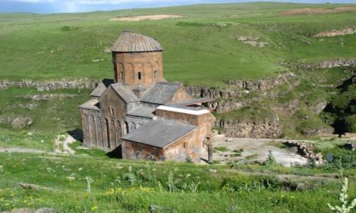 Zdjecie TURCJA / Anatolia Wschodnia / Ani / Ruiny ANI, dawnej stolicy Armenii  - Kościół Św. Grzegorza