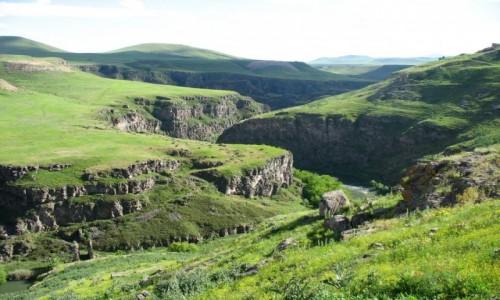 Zdjecie TURCJA / Anatolia Wschodnia / ANI / Rzeka Akhurian - granica Turcji i Armenii