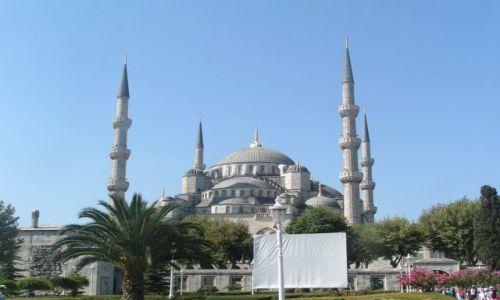 Zdjecie TURCJA / Cie�nina Bosfor / Stambu� / B��kitny meczet
