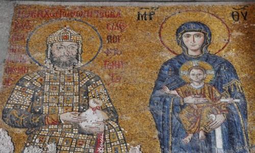 Zdjecie TURCJA / Istambuł / stary Istambuł / Mozaika z Hagii Sophi