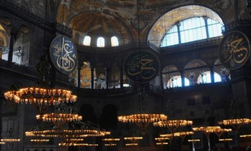 Zdjęcie TURCJA / Istambuł / Hagia Sophia / Wnętrze świątyni