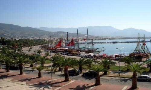 Zdjecie TURCJA / Riwiera Turecka. / Alanya / Alanya - widok na port.